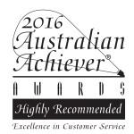 2016 Aust Achiever award