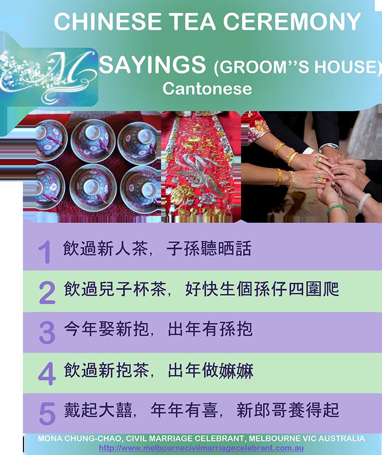 Sayings (Groom's House) - Cantonese