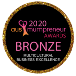 Aus Mumpreneur Awards 2020 Bronze - Multicultural Business Excellence